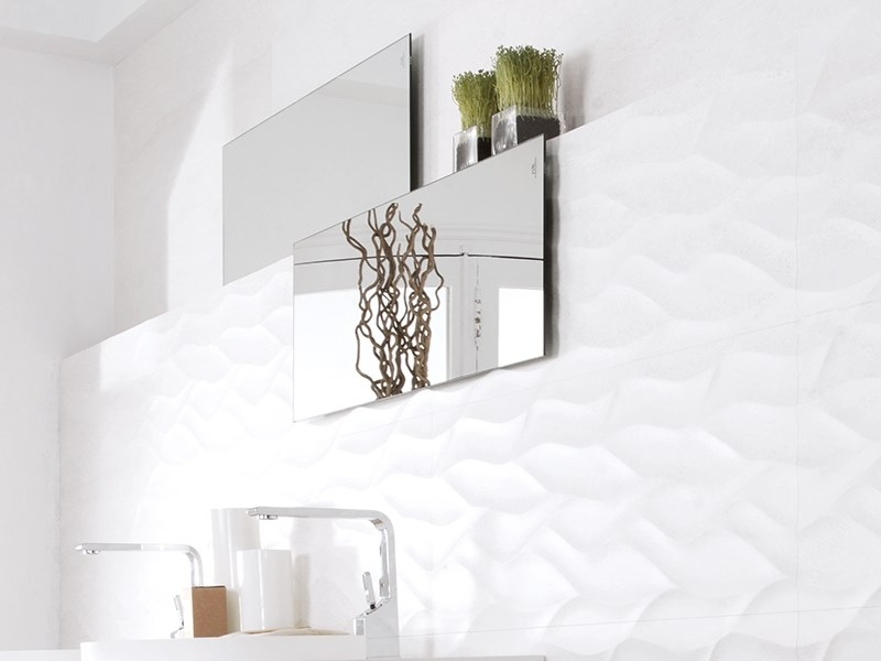 3D Wall Cladding with stone effect ONA BLANCO by Venis