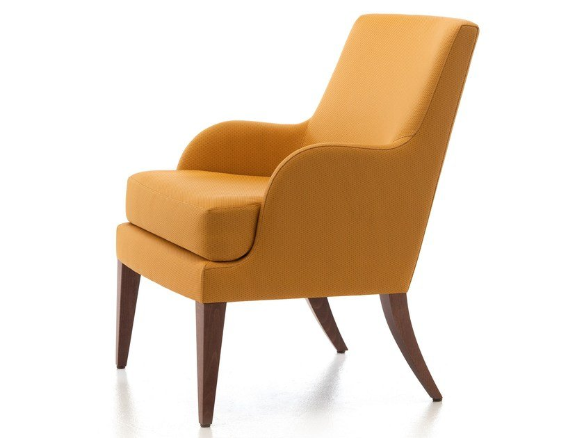 Fabric armchair with armrests ONDA 104 by Very Wood