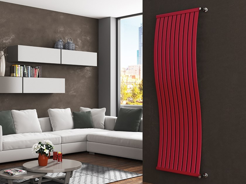 Vertical wall-mounted steel decorative radiator ONDALUX by XÒ by Metalform