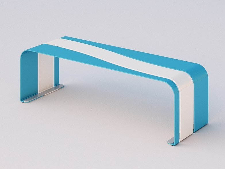 Backless galvanized steel Bench ONDINA | Bench by DIMCAR