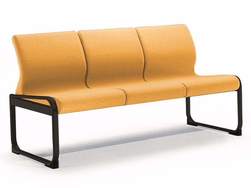Fabric bench seating with back ONE 403 S by TALIN