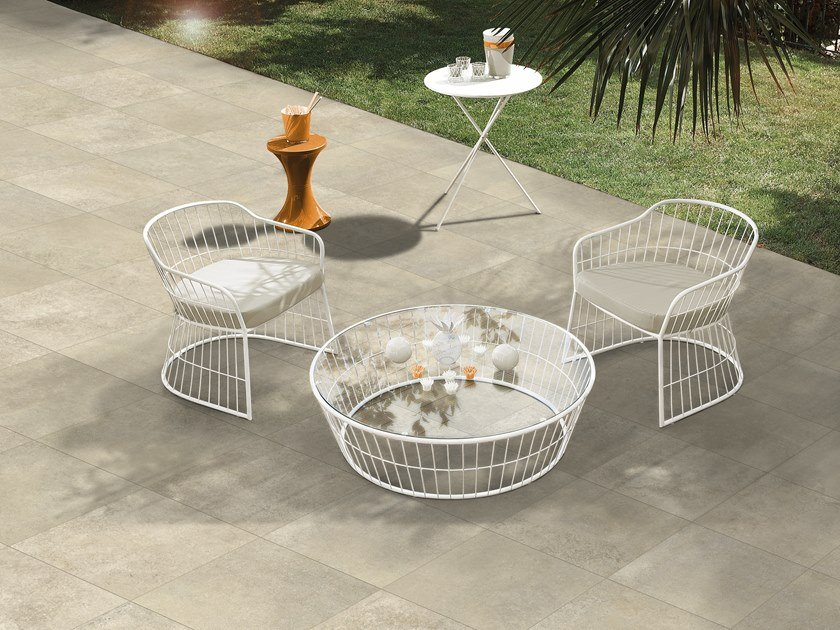 Stoneware flooring with concrete effect ONE by ITT Ceramic