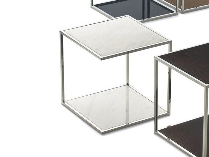 Square side table ONE | Marble coffee table by Pacini & Cappellini