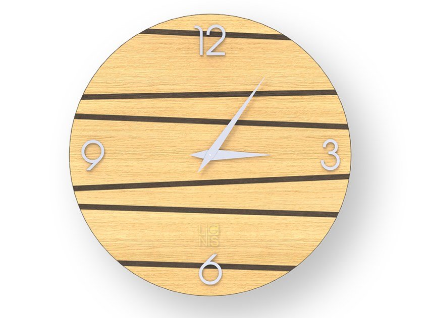 Orologio da parete in legno intarsiato ONE WARM   Orologio by LIGNIS®
