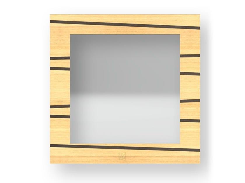 Specchio quadrato da parete con cornice ONE WARM | Specchio by LIGNIS®