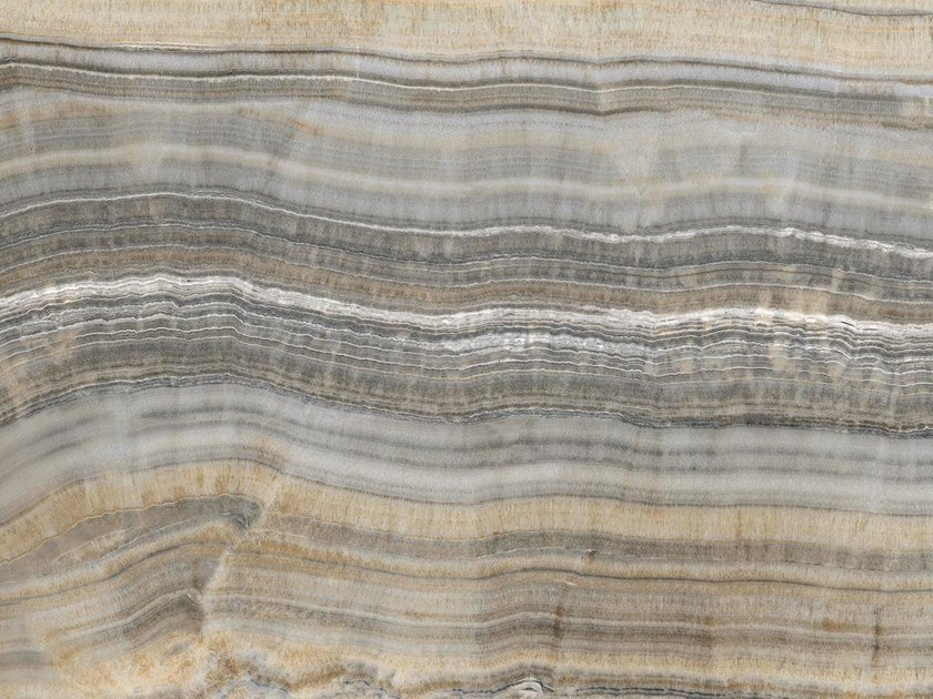 Indoor/outdoor technical ceramic wall/floor tiles with marble effect ONICE GRIGIO by FMG