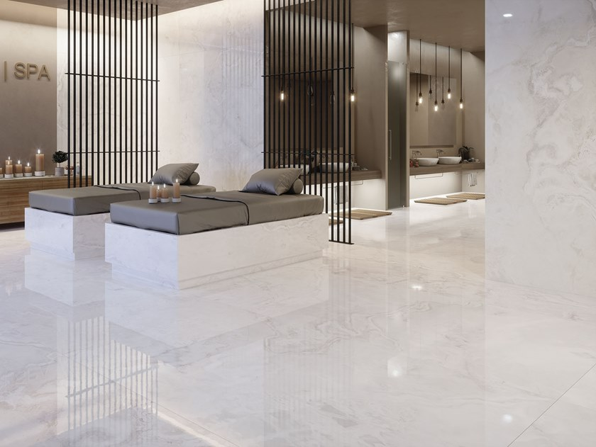 Sintered ceramic wall/floor tiles with marble effect ONICE SUPREME by ITT Ceramic