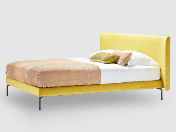 Upholstered fabric double bed BRACE by SCHRAMM