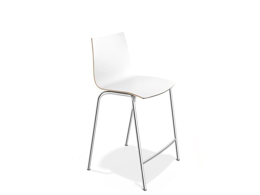 Laminate stool with footrest ONYX BARSTOOL | Laminate stool by Casala