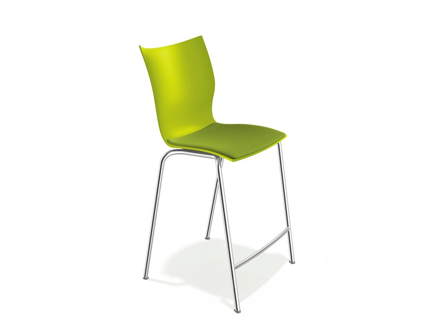 Plastic stool with footrest ONYX BARSTOOL | Stool by Casala