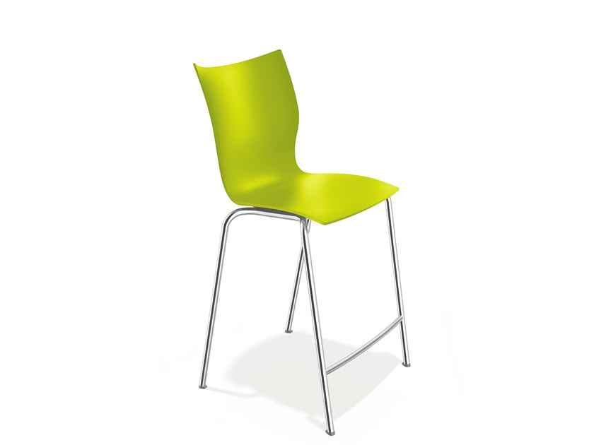 Plastic stool with footrest ONYX BARSTOOL   Stool with footrest by Casala