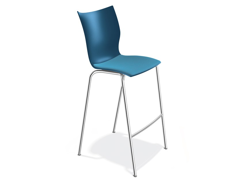 Plastic stool with footrest ONYX BARSTOOL | Stool with footrest by Casala