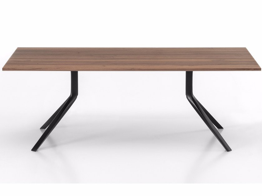 Rectangular wooden table OOPS I DID IT AGAIN | Rectangular table by Kristalia