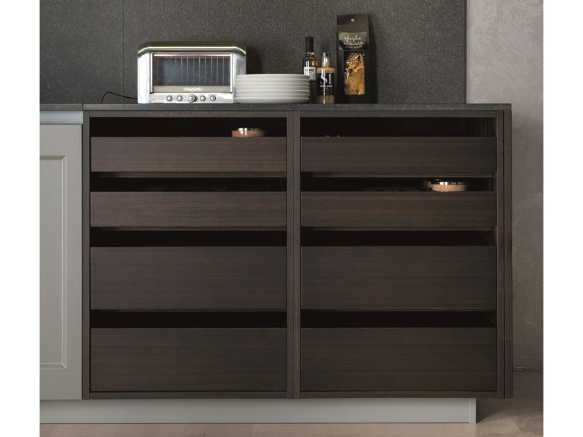 Sideboard with drawers OPEN by Euromobil