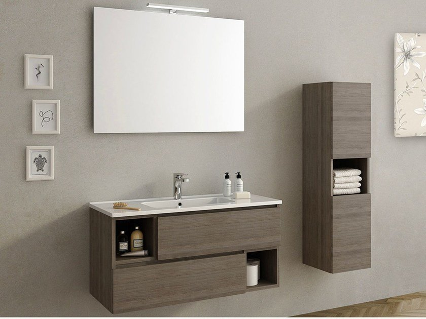 Wall-mounted vanity unit OPEN by Remail by G.D.L.
