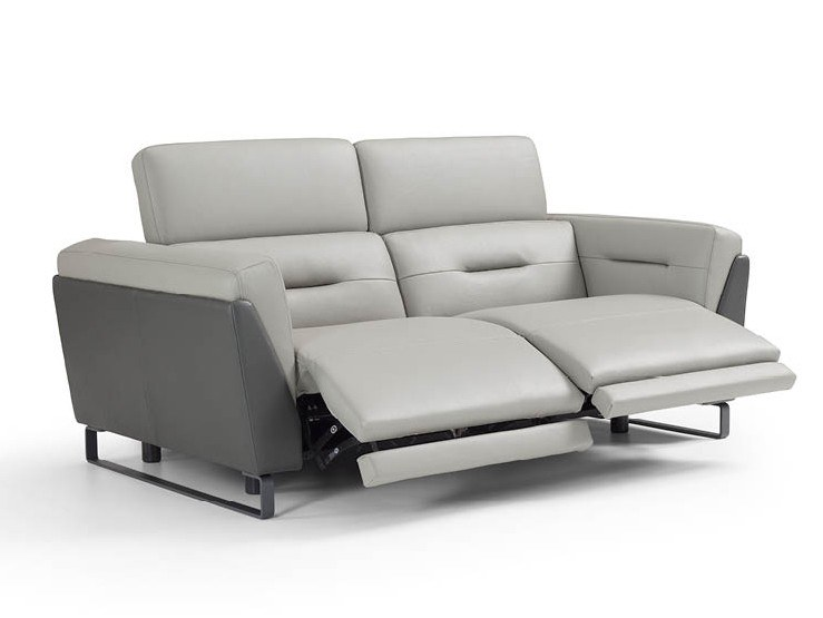 Recliner leather sofa with headrest OPEN | Sofa by Max Divani