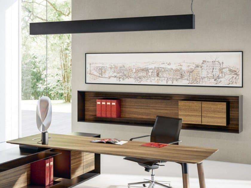 Wooden sideboard / office shelving OUTLINE | Suspended sideboard by FANTONI