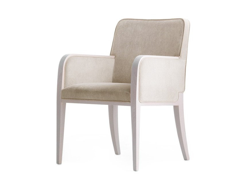 Upholstered chair with armrests OPERA 02231 by Montbel