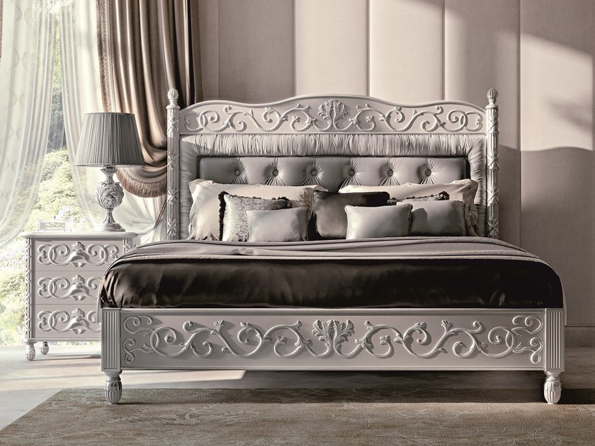 Double bed with upholstered headboard OPERA | Bed by Andrea Fanfani