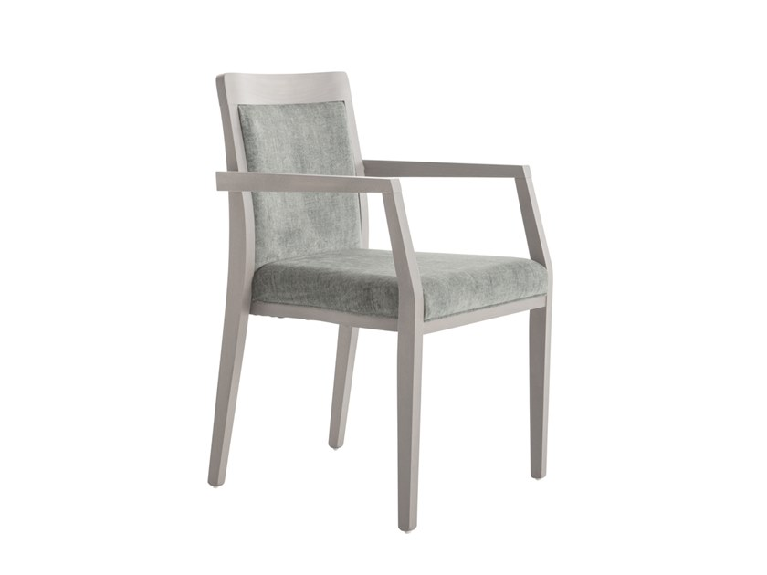 Upholstered beech chair with armrests OPERA BOHEME 49EFP.i8 by Palma