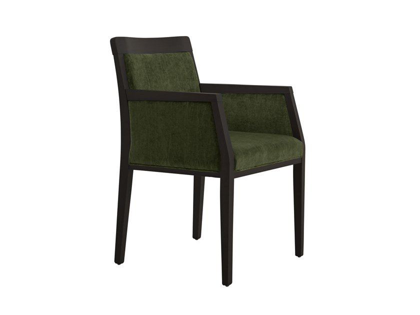 Upholstered beech chair with armrests OPERA BOHEME 49ER.i8 by Palma