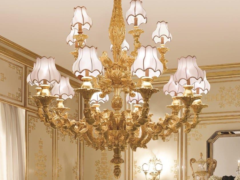 Gold leaf chandelier OPERA | Gold leaf chandelier by Andrea Fanfani
