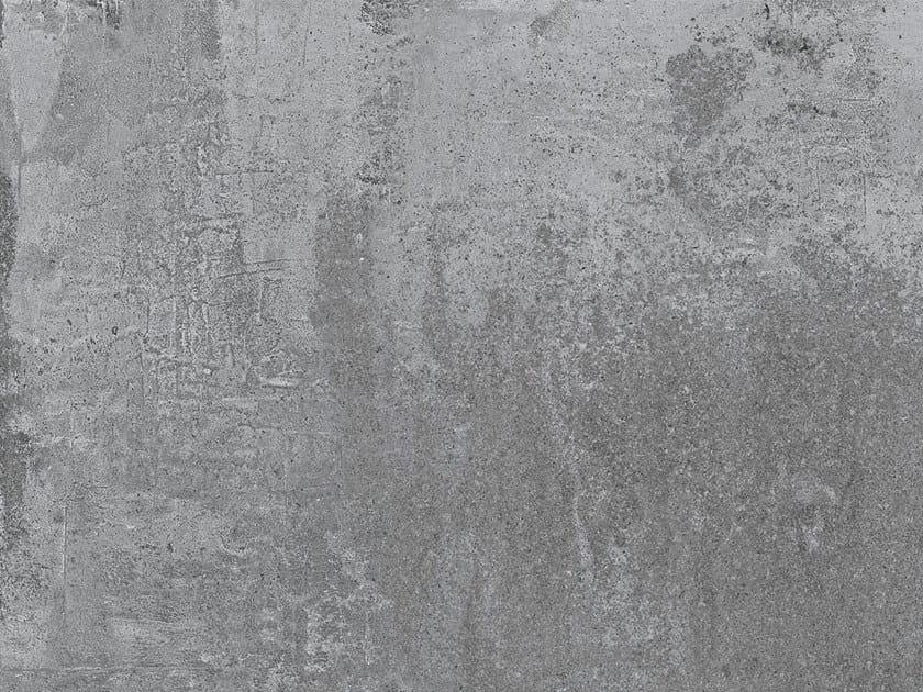 Porcelain stoneware flooring with concrete effect ÓPERA IRON by Exagres