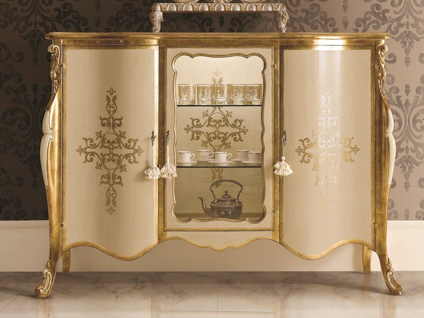 Lacquered highboard with doors OPERA | Lacquered highboard by Andrea Fanfani