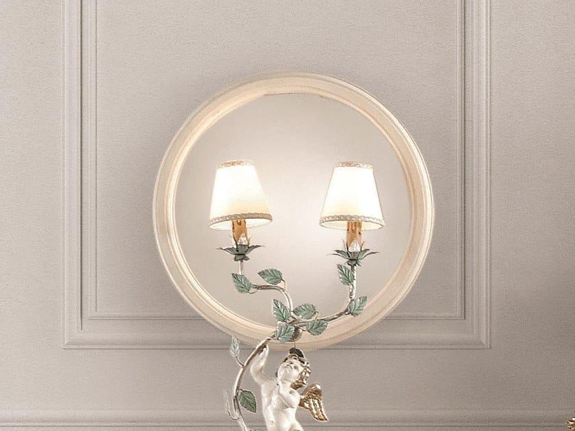 Round framed mirror OPERA | Round mirror by Andrea Fanfani