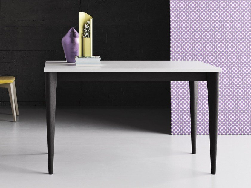 Square solid wood contract table OPERÀ | Square table by Imperial Line