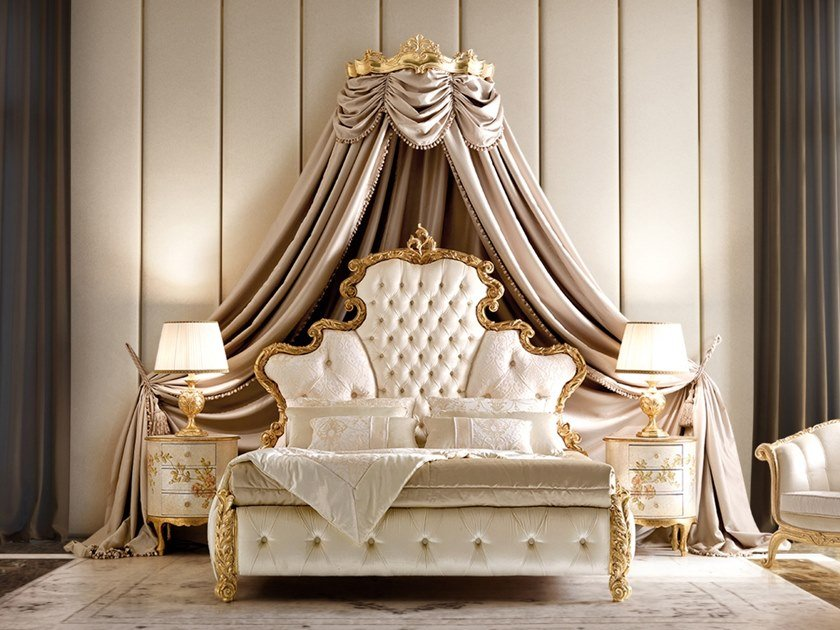 Upholstered fabric bed with tufted headboard OPERA | Upholstered bed by Andrea Fanfani