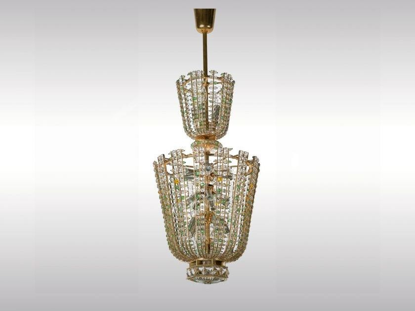 Classic style crystal pendant lamp OPERNLUSTER ORIGINAL by Woka Lamps Vienna