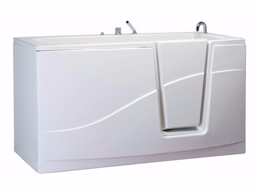 Vasca Da Bagno Perde Acqua : Vasca da bagno a tenuta stagna con porta oplÀ by saniline