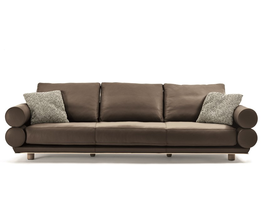3 seater leather sofa OPPENHEIM | 3 seater sofa by Longhi