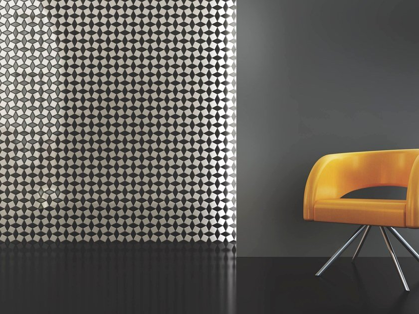 Fireproof indoor/outdoor mosaic OPTICAL DOMINO by MyMosaic
