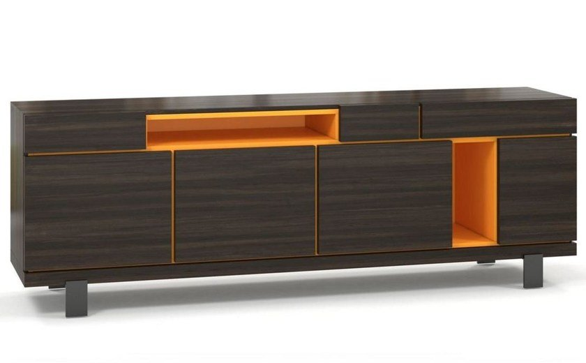 MDF sideboard with doors with drawers OPTIMUM by ROCHE BOBOIS