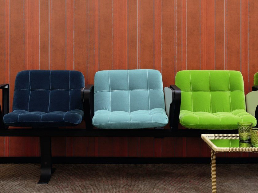 Solid-color velvet fabric OPUS by Élitis