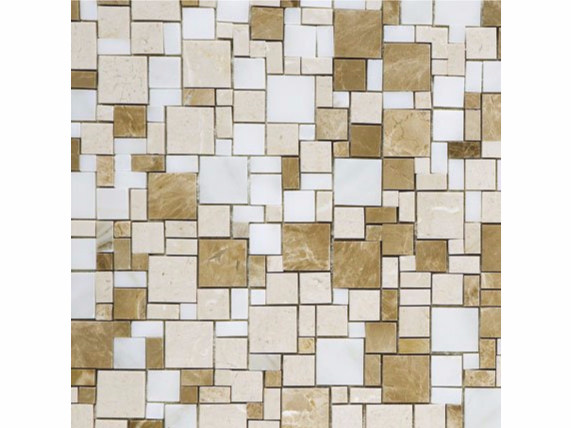 Marble mosaic OPUS MARRONE by FRIUL MOSAIC