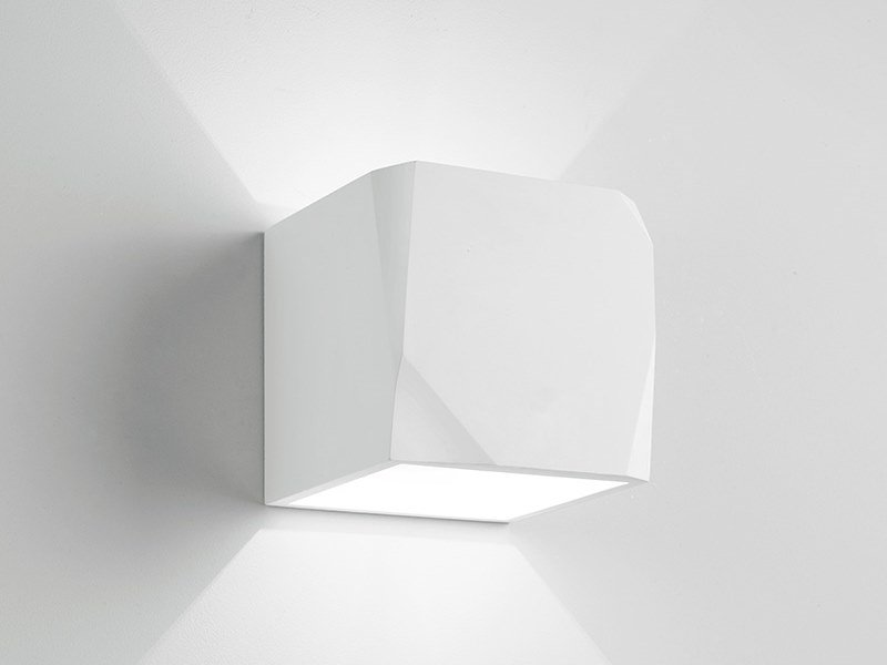 Direct-indirect light gypsum wall light OPUS by Sforzin