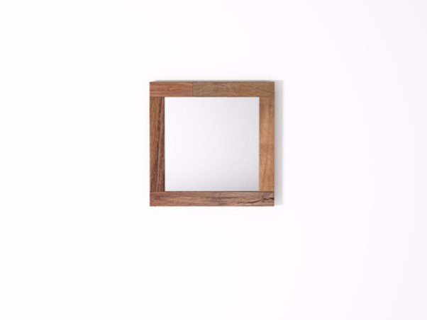 Square wall-mounted framed mirror ORGANIK OR30-TMH | Mirror by KARPENTER