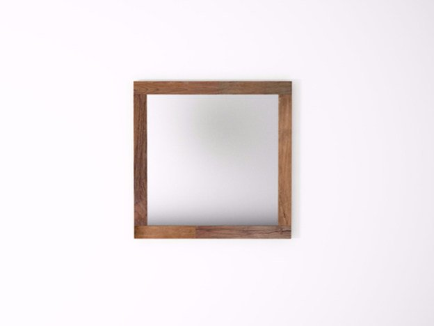 Square wall-mounted framed mirror ORGANIK OR32-TMH | Mirror by KARPENTER