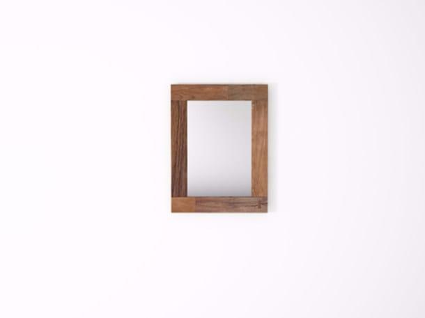 Rectangular wall-mounted framed mirror ORGANIK OR33-TMH | Mirror by KARPENTER