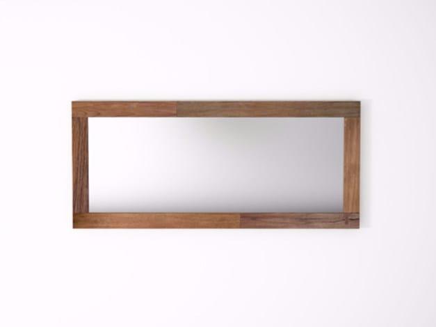 Rectangular wall-mounted framed mirror ORGANIK OR35-TMH | Mirror by KARPENTER
