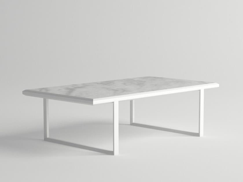 Rectangular garden side table ORA | Rectangular coffee table by 10Deka