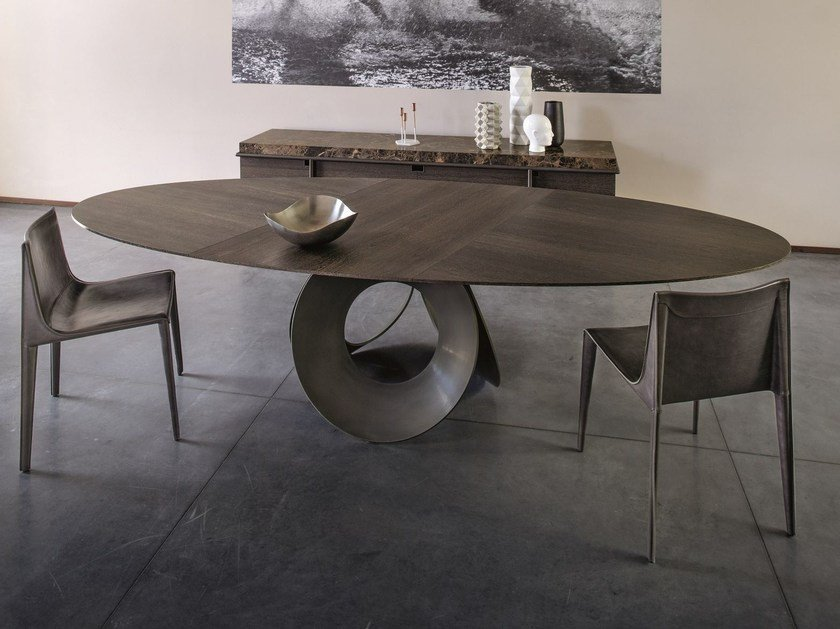 Oval wood fibre living room table ORACLE | Oval table by Arketipo