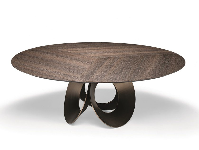 Round wood fibre living room table ORACLE | Wood fibre table by Arketipo
