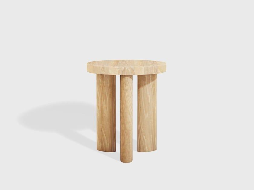Wooden stool ORBIT 03 by Matter Made