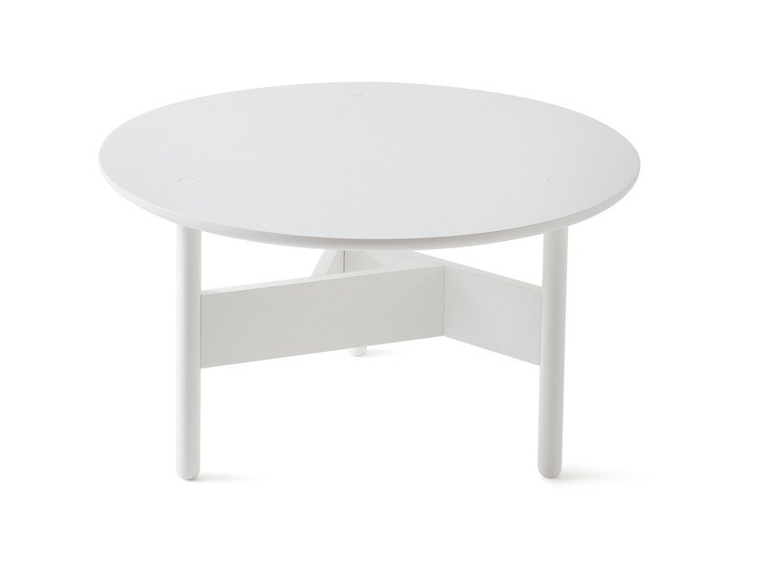 Low lacquered round coffee table ORBITAL | Lacquered coffee table by Atipico