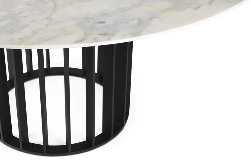 Tavolo Da Pranzo Rotondo : Tavolo da pranzo rotondo in marmo calacatta orbiter calacatta