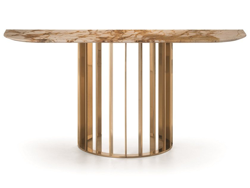 Spiderman marble console table ORBITER   Spiderman marble console table by OIA Design